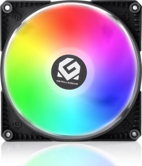 MetallicGear SKIRON MG-F140 D-RGB PWM, 4-Pin High Airflow D-RGB Fan (140mm, Black Fan Frame with Matte White Blades) - Powered by Phanteks