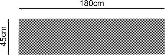 Proplus Anti-slipmat 180 X 45 Cm 3 Mm Zwart