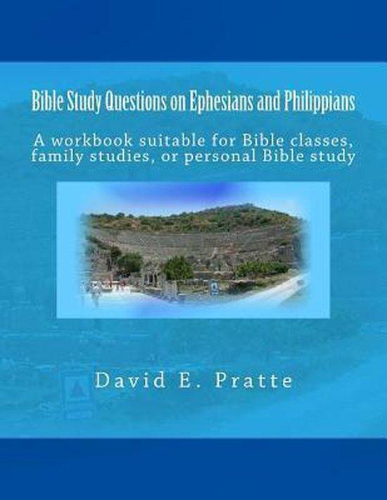 Boek cover Bible Study Questions on Ephesians and Philippians van David E Pratte (Paperback)