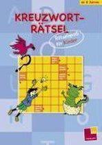 Kreuzworträtsel. Rätselspaß für Kinder (blau)