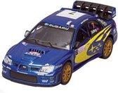 Goki Metalen auto: straatracer blauw met geel