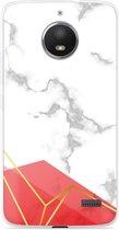 Motorola Moto E4 Hoesje Trendy Marmer
