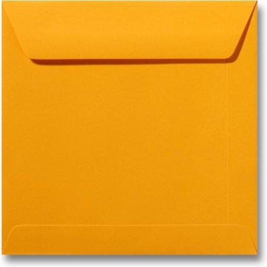 Envelop 17 x 17 Goudgeel, 100 stuks