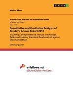 Quantitative and Qualitative Analysis of EasyJet's Annual Report 2013