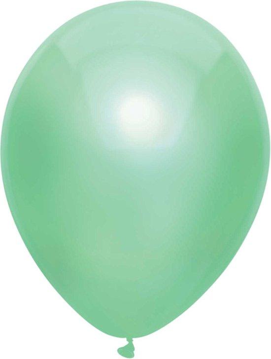Haza Original Ballonnen Metallic Mint 10 Stuks