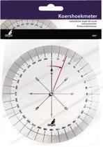 Kangaro Koershoekmeter 126mm - 360 graden - 2 draaibare schijven - Kunststof