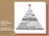Luxe kerstkaarten, Typografisch - 10 stuks