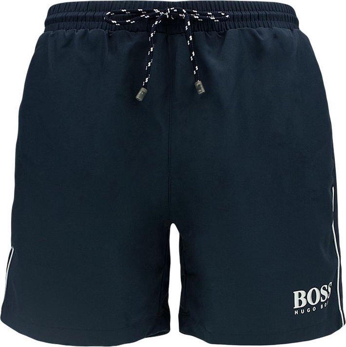 Hugo Boss Zwembroek Starfish Short Heren - Donkerblauw - L - Hugo Boss