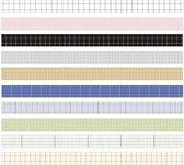Washi Tape Ruitjes - 10 rollen - Masking Tape Ruit