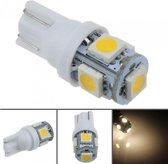 T10 - 12 volt - 5 LED - 5050 SMD - WIT 4000K