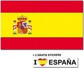 Spaanse vlag met 2 gratis Spanje stickers
