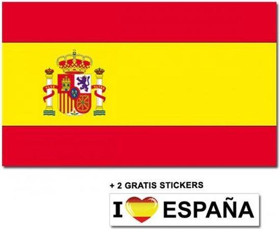 Bol Com Spaanse Vlag Met 2 Gratis Spanje Stickers