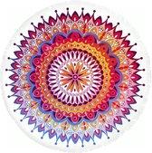 HIP roundie 5615-H Chantal - strandlaken - 160x160 cm  - 100% cotton/velours - multi