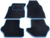 Bavepa Complete Velours Automatten Zwart Met Lichtblauwe Rand Renault Megane CC 2003-