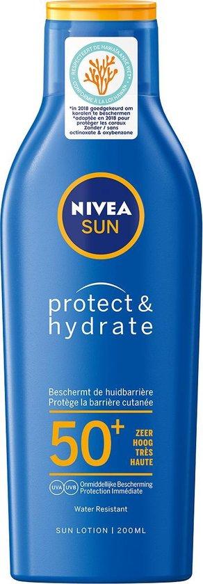 NIVEA SUN Zonnebrand - Protect & Hydrate Zonnemelk - SPF 50+ - 200 ml