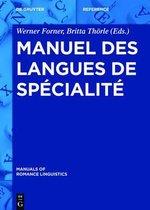 Manuel des langues de specialite