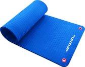 Tunturi Pro Fitnessmat - Oefenmat - 180 cm x 60 cm x 1,5 cm - Blauw