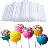 100X Cakepop Stokjes Set -Pop Cake  Lolly Stokjes/ Lollipop Sticks - 70mm