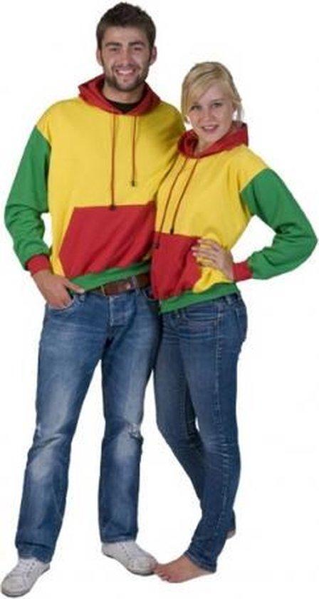 Rood, geel en groene sweater S
