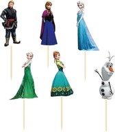 Moodadventures | Frozen Cupcake Prikkers | Set van 24 Cupcake Prikkers
