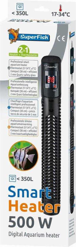 Superfish Smart Heater Digital 30 cm - Verwarming - 500 Watt Tot 350 Liter