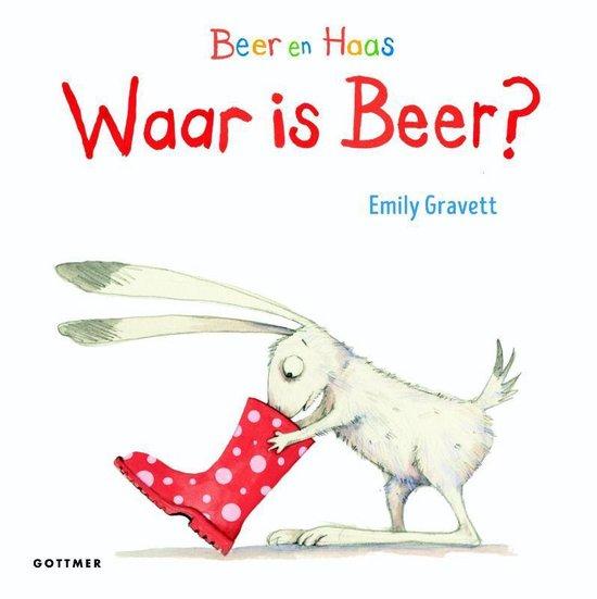 Boek cover Beer en Haas  -   Waar is Beer? van Emily Gravett (Hardcover)