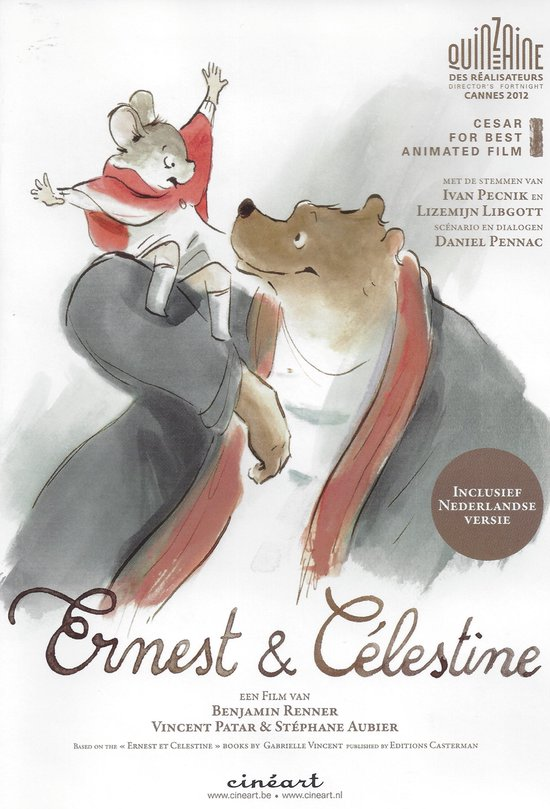 Cover van de film 'Ernest & Celestine'