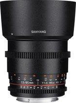 Samyang 85mm T1.5 Vdslr As Umc - Prime lens - geschikt voor Sony