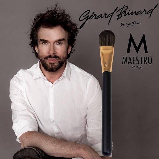 Maestro by Mari make-up kwast foundationkwast rose goud - synthetisch - Maestro by Mari