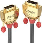 LINDY DVI Aansluitkabel 5.00 m 36204 Grijs [1x DVI-stekker 24+1-polig - 1x DVI-stekker 24+1-polig]