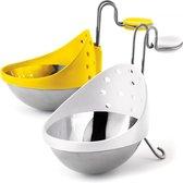 CUISIPRO - Allerlei - Eipocheerder, Set/2, wit+geel