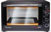 TurboTronic TT-EV45 - RVS Elektrische Oven 45 liter - 2000W - Zwart