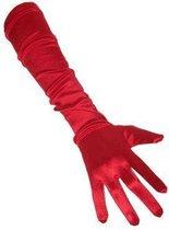 Rode handschoenen gala
