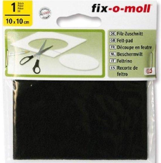 Fix-o-moll vilt 100mmx100mm bruin