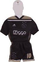 Ajax minikit away 2018-2019 - zwart/goud - maat 30