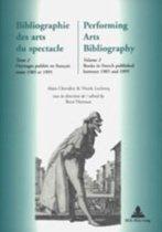 Bibliographie des Arts du Spectacle Performing Arts Bibliography