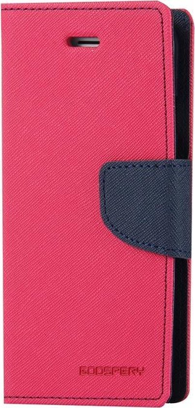 Let op type!! MERCURY GOOSPERY FANCY DIARY for iPhone 6 Plus & 6s Plus Cross Texture Horizontal Flip Leather Case with Card Slots & Wallet & Holder(Magenta)