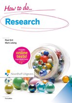 Boek cover How to do research van Roel Grit