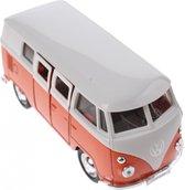 Welly Metalen Volkswagen Bus Oranje 11,5 Cm