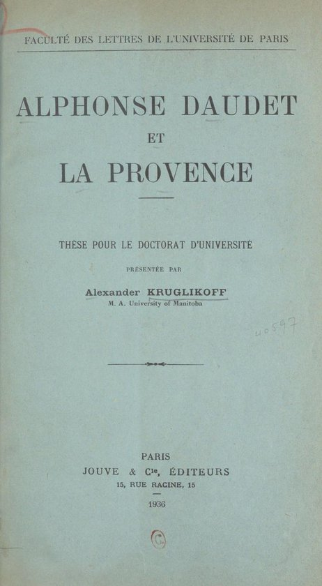 Alphonse Daudet et la Provence