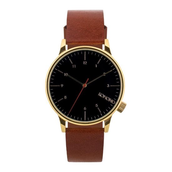 Komono Winston Regal Pecan KOM-W2258 – Horloge – Leer – Bruin 42 mm