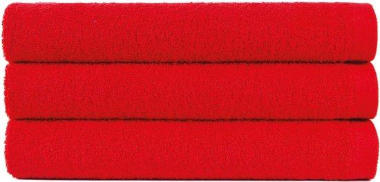 6 gastendoeken 30x50 cm uni alpha 400 gr/m2 rood col 2566 - Uni Alpha