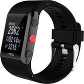 Siliconen Horloge Band Voor Polar V800 (HR)-  Armband / Polsband / Strap Bandje / Sportband - Zwart