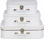 Decoratief koffertje wit 35 cm