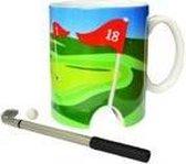 Golfmok met mini-putter