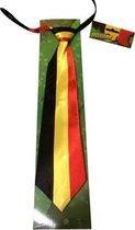 België Stropdas - Satijn - Zwart/Geel/Rood