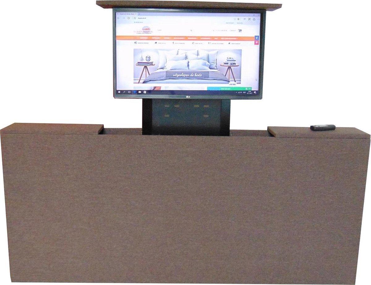 Nieuw bol.com | Slaaploods.nl Voetbord - Met TV Lift - 120x80x20 cm - Bruin FA-65