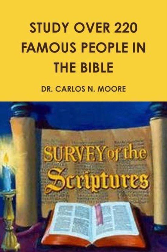 Boek cover Famous People in the Bible van Dr Carlos N Moore (Paperback)