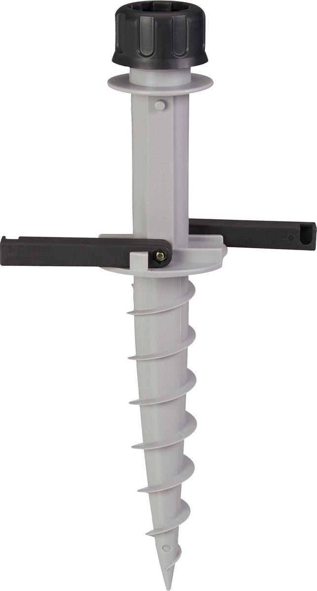 relaxdays grondanker parasol - parasolhouder - kunststof - met handgrepen - 25 - 40 mm