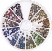 Hotfix gekleurde ronde strass steentjes 360 stuks